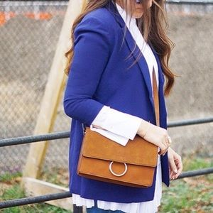 Cognac ring loop bag